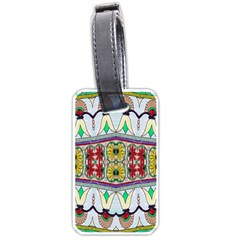 Kaleidoscope Background  Wallpaper Luggage Tags (one Side)