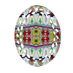 Kaleidoscope Background  Wallpaper Oval Filigree Ornament (Two Sides)