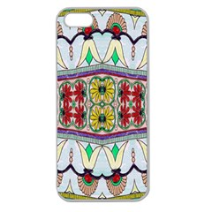 Kaleidoscope Background  Wallpaper Apple Seamless iPhone 5 Case (Clear)