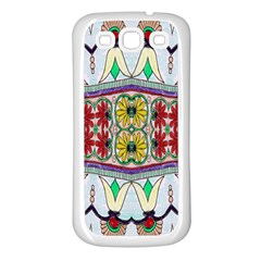 Kaleidoscope Background  Wallpaper Samsung Galaxy S3 Back Case (White)