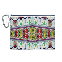 Kaleidoscope Background  Wallpaper Canvas Cosmetic Bag (l)