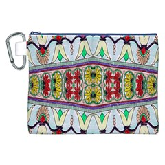 Kaleidoscope Background  Wallpaper Canvas Cosmetic Bag (xxl)