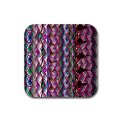 Textured Design Background Pink Wallpaper Of Textured Pattern In Pink Hues Rubber Coaster (square)