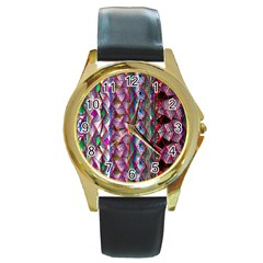 Textured Design Background Pink Wallpaper Of Textured Pattern In Pink Hues Round Gold Metal Watch