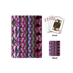 Textured Design Background Pink Wallpaper Of Textured Pattern In Pink Hues Playing Cards (Mini)