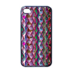 Textured Design Background Pink Wallpaper Of Textured Pattern In Pink Hues Apple Iphone 4 Case (black)