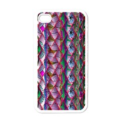 Textured Design Background Pink Wallpaper Of Textured Pattern In Pink Hues Apple iPhone 4 Case (White)