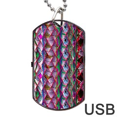 Textured Design Background Pink Wallpaper Of Textured Pattern In Pink Hues Dog Tag Usb Flash (two Sides)