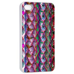 Textured Design Background Pink Wallpaper Of Textured Pattern In Pink Hues Apple Iphone 4/4s Seamless Case (white)
