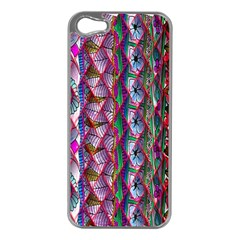 Textured Design Background Pink Wallpaper Of Textured Pattern In Pink Hues Apple iPhone 5 Case (Silver)