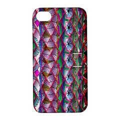 Textured Design Background Pink Wallpaper Of Textured Pattern In Pink Hues Apple Iphone 4/4s Hardshell Case With Stand