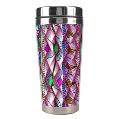 Textured Design Background Pink Wallpaper Of Textured Pattern In Pink Hues Stainless Steel Travel Tumblers