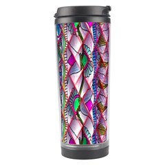 Textured Design Background Pink Wallpaper Of Textured Pattern In Pink Hues Travel Tumbler
