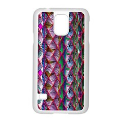 Textured Design Background Pink Wallpaper Of Textured Pattern In Pink Hues Samsung Galaxy S5 Case (White)