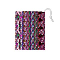 Textured Design Background Pink Wallpaper Of Textured Pattern In Pink Hues Drawstring Pouches (medium)