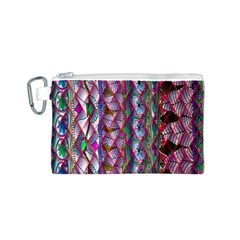 Textured Design Background Pink Wallpaper Of Textured Pattern In Pink Hues Canvas Cosmetic Bag (s)