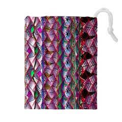 Textured Design Background Pink Wallpaper Of Textured Pattern In Pink Hues Drawstring Pouches (extra Large)