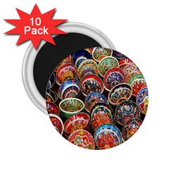 Colorful Oriental Bowls On Local Market In Turkey 2.25  Magnets (10 pack)