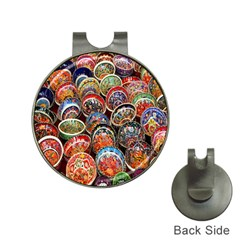 Colorful Oriental Bowls On Local Market In Turkey Hat Clips With Golf Markers