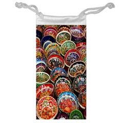 Colorful Oriental Bowls On Local Market In Turkey Jewelry Bag