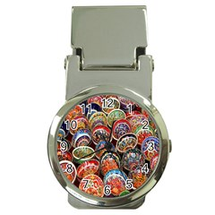 Colorful Oriental Bowls On Local Market In Turkey Money Clip Watches
