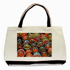 Colorful Oriental Bowls On Local Market In Turkey Basic Tote Bag