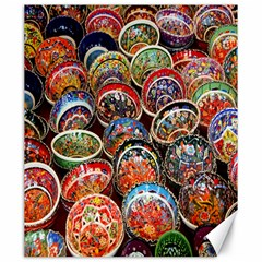 Colorful Oriental Bowls On Local Market In Turkey Canvas 20  x 24
