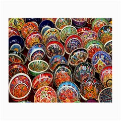 Colorful Oriental Bowls On Local Market In Turkey Small Glasses Cloth (2-Side)