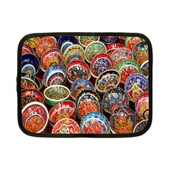 Colorful Oriental Bowls On Local Market In Turkey Netbook Case (Small)