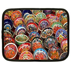 Colorful Oriental Bowls On Local Market In Turkey Netbook Case (Large)