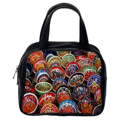 Colorful Oriental Bowls On Local Market In Turkey Classic Handbags (one Side)