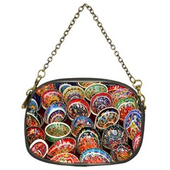 Colorful Oriental Bowls On Local Market In Turkey Chain Purses (two Sides)