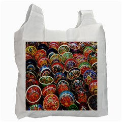 Colorful Oriental Bowls On Local Market In Turkey Recycle Bag (One Side)