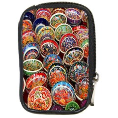 Colorful Oriental Bowls On Local Market In Turkey Compact Camera Cases