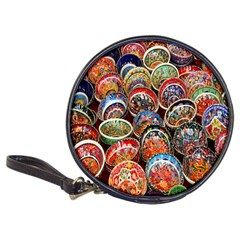 Colorful Oriental Bowls On Local Market In Turkey Classic 20-CD Wallets