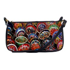 Colorful Oriental Bowls On Local Market In Turkey Shoulder Clutch Bags