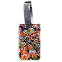 Colorful Oriental Bowls On Local Market In Turkey Luggage Tags (Two Sides)