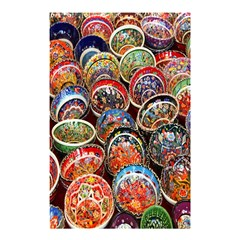 Colorful Oriental Bowls On Local Market In Turkey Shower Curtain 48  x 72  (Small)