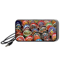 Colorful Oriental Bowls On Local Market In Turkey Portable Speaker (black)