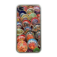 Colorful Oriental Bowls On Local Market In Turkey Apple Iphone 4 Case (clear)