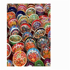 Colorful Oriental Bowls On Local Market In Turkey Small Garden Flag (two Sides)