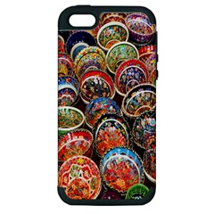 Colorful Oriental Bowls On Local Market In Turkey Apple Iphone 5 Hardshell Case (pc+silicone)