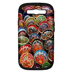 Colorful Oriental Bowls On Local Market In Turkey Samsung Galaxy S Iii Hardshell Case (pc+silicone)