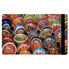 Colorful Oriental Bowls On Local Market In Turkey Apple Ipad 2 Flip Case