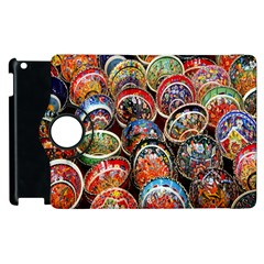 Colorful Oriental Bowls On Local Market In Turkey Apple Ipad 2 Flip 360 Case