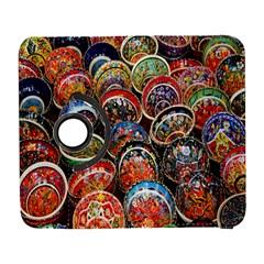Colorful Oriental Bowls On Local Market In Turkey Galaxy S3 (flip/folio)