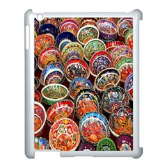 Colorful Oriental Bowls On Local Market In Turkey Apple iPad 3/4 Case (White)
