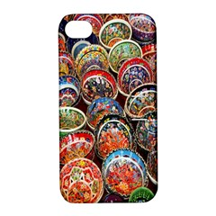 Colorful Oriental Bowls On Local Market In Turkey Apple iPhone 4/4S Hardshell Case with Stand