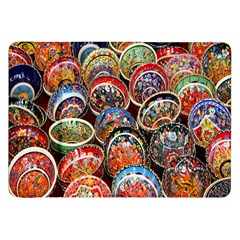 Colorful Oriental Bowls On Local Market In Turkey Samsung Galaxy Tab 8.9  P7300 Flip Case