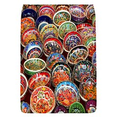 Colorful Oriental Bowls On Local Market In Turkey Flap Covers (L)